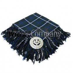 Hunting Stewart Scottish Fly Plaid with Knotted Fringe