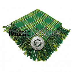 Irish National Scottish Fly Plaid with Knotted Fringe