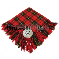 Wallace Scottish Fly Plaid with Knotted Fringe