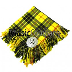 Macleod Lewis Scottish Fly Plaid with Knotted Fringe