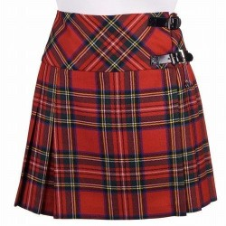 Ladies Royal Stewart Scottish Mini Billie Kilt Mod Skirt