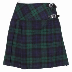 Ladies Black Watch Scottish Mini Billie Kilt Mod Skirt