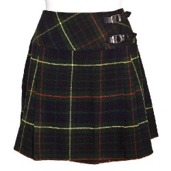 Ladies Hunting Stewart Scottish Mini Billie Kilt Mod Skirt