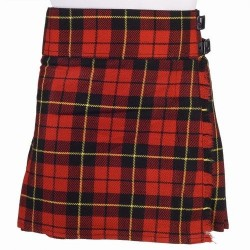 Ladies Wallace Scottish Mini Billie Kilt Mod Skirt