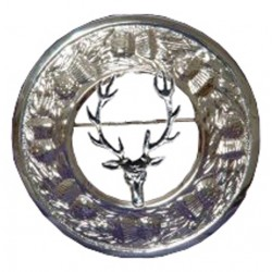 Thistle Plaid Brooch with Barasingha Badge
