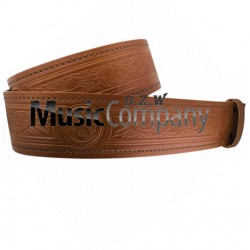 Thistle Embossed Piper and Drummer Kilt Waist Belt with Buckle