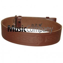 Celtic Embossed Piper and Drummer Kilt Waist Belt with Buckle
