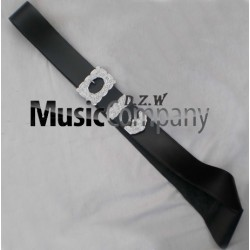 Black leather Piper Cross Belt with Thistle Mounts