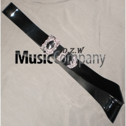 Black PVC Piper Cross Belt with Thistle Mounts