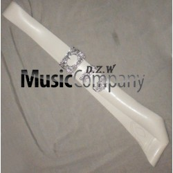 White PVC Piper Cross Belt with Thistle Mounts
