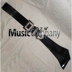 Black PVC Piper Cross Belt with Guard Mounts