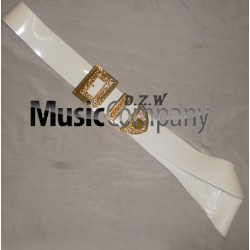 White PVC Piper Cross Belt with Guards Mounts