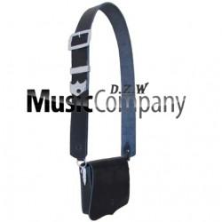 Black leather Cross Belt & Pouch Device