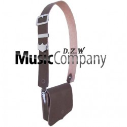 Black leather Cross Belt & Pouch Device