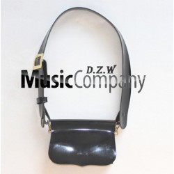Black PVC Cross Belt & Pouch Device