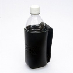 Black leather Water Bottle Holder