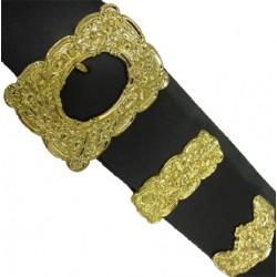 Military Thistle Cross Belt Buckle Set