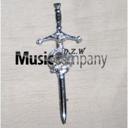 Thistle Swords Kilt Pin