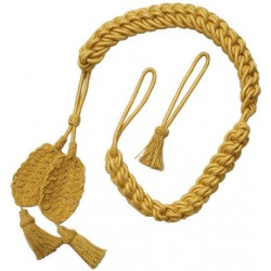 Yellow Wool Bearskin Hat Cords
