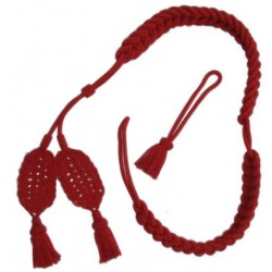 Red Wool Bearskin Hat Cords
