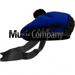 Royal Blue Balmoral Hat with Black Ball Pom Pom