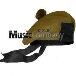 Khaki Balmoral Hat with Khaki Ball Pom Pom