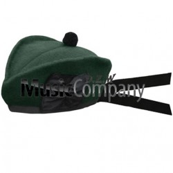 Special Forces Green Glengarry Hat with Green Ball Pom Pom