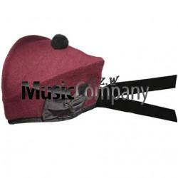 Airborne Maroon Glengarry Hat with Black Ball Pom Pom