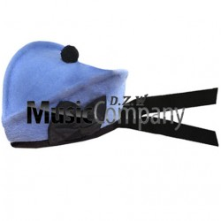 Sky Blue Glengarry Hat with Black Ball Pom Pom