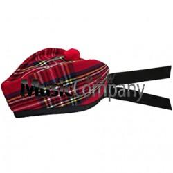 Royal Stewart Glengarry Hat with Red Ball Pom Pom