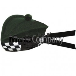 Diced Special Forces Green Glengarry Hat with Dark Green Ball Pom Pom
