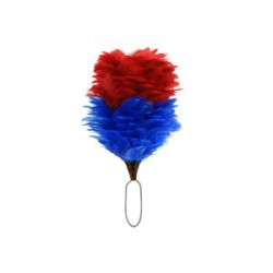 Red/Blue Feather Hackle Plume