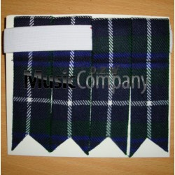 Modern Dougle Tartan Scottish/Highland Kilt Sock Flashes