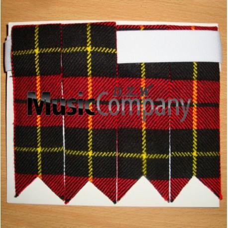Wallace Tartan Scottish/Highland Kilt Sock Flashes