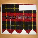 Wallace Tartan Scottish/Highland Kilt Sock Flashes