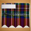 Black Stewart Tartan Scottish/Highland Kilt Sock Flashes