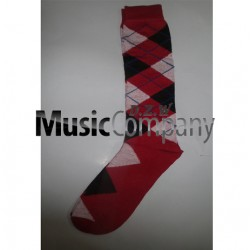 Red/White/Black Scottish/Highland Wool Kilt Hose/Sock