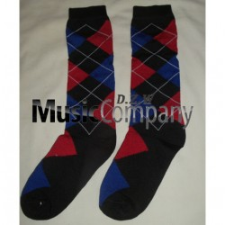 Black/Red/Blue Scottish/Highland Wool Kilt Hose/Sock