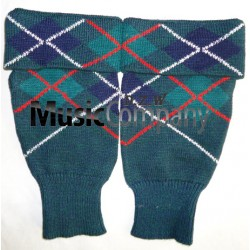 Scottish/Highland Mackenzie Tartan Diced Wool kilt Hose Top