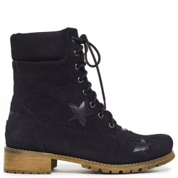 Black army boot with stars