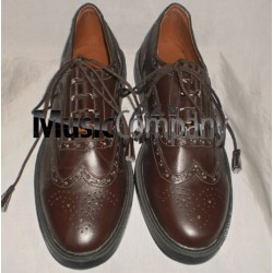 Dark Brown Ghillie Brogues Leather Upper with Leather Sole