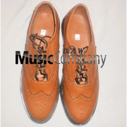 Tan Brown Ghillie Brogues Leather Upper with Leather Sole