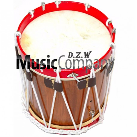 Snare Renaissance Red Civil War Drum 14 inches x 17 inches Military Heritage Rope Tension
