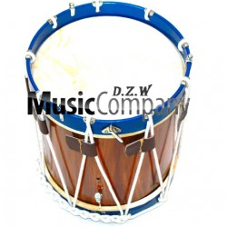 Snare Renaissance Blue Civil War Drum 14 inches x 17 inches Military Heritage Rope Tension