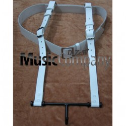 Bass Drum Harness White Leather