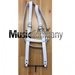 White Gloss PVC Bass Drum Harness