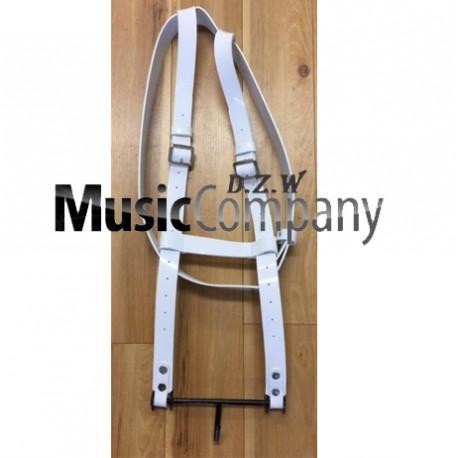 White Gloss PVC Bass Drum Harness
