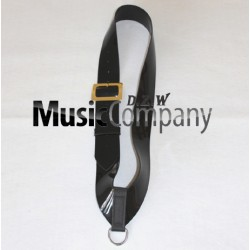 Black PVC Side/Tenor Drum Sling with Gold Buckle