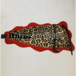 Drummers Leg Apron Imitation Leopard Skin