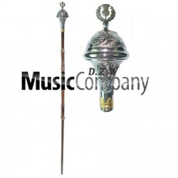 Engraved Head Drum Major Mace Stick